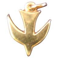 James Avery 14 K Yellow Gold Retired Decending Dove Charm Or Pendant