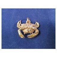 JAMES AVERY Retired 14K Gold Crab Cancer Zodiac Charm / Pendant - RARE