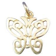 James Avery 14K Gold Butterfly Charm / Pendant