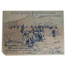 Combination Trade Card & Black Memorabilia William Deering & Co. Zulu Card