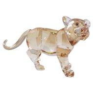 Swarovski SCS 2010 Endangered Wildlife Series Standing Tiger Cub 1051686 W/Box & Certificate