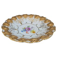 Georgeous Meissen Shallow Bowl with Florals and Lots of Gold!!!