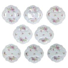 Rare Set of 8 Limoges Asparagus Plates Circa 1900