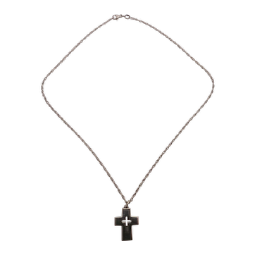 James Avery Sterling Silver Small Cross and Chain