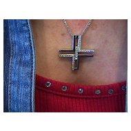 Garavelli Lady's 18K White Gold VS Diamond Cross
