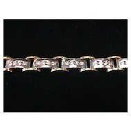 Magnificent 3 carat VS Diamond 18K White & Yellow Gold Bracelet