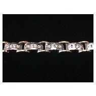 Magnificent 3 carat VS Diamond 18K White & Yellow Gold Bracelet