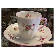 Shelley Demitasse Cup & Saucer - Rose Spray