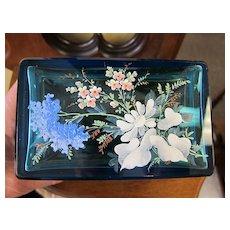 Moser Enameled Jewelry Casket - Beautiful Blue
