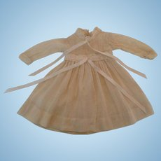 Darling Vintage Batiste & Dotted Swiss Off White Doll Dress