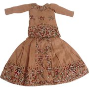 Beautiful Vintage 2-Piece Glass Beaded Dress For An Indian Girl Doll