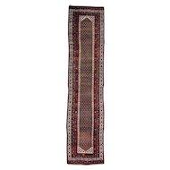 "3'2""x13'10"" Antique Persian Northwest Boteh Design Runner Handmade Rug"