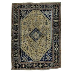 Antique Persian Qashqai with Some Repairs Good Cond Rug