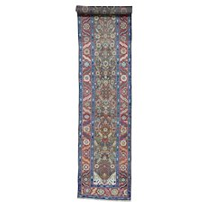 Antique Persian Bakshaish Exc Cond Runner Hand Knotted Rug
