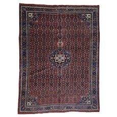 Antique Persian Bidjar Exc Cond Hand-Knotted Oriental Rug
