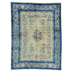 Hand-Knotted Antique Persian Kerman Full Pile Mint Cond Rug