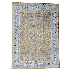 Hand-Knotted Antique Persian Sarouk Exc Cond Oriental Rug