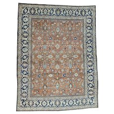 Antique Persian Tabriz Good Cond Hand-Knotted Oriental Rug