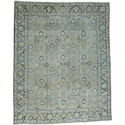Antique Persian Tabriz Good Cond Even Wear Hand-Knotted Rug