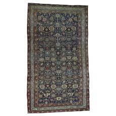 Hand-Knotted Antique Persian Bidjar Even Wear Oversize Rug