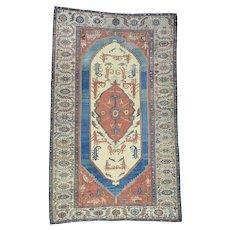 Original Antique Persian Bakshaish Good Cond Gallery Size Rug