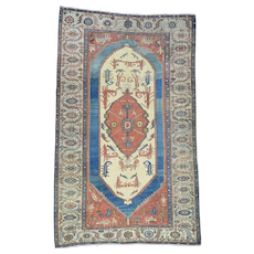 Original Antique Persian Bakshaish Good Cond Gallery Size Rug