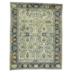 Handmade Antique Persian Lilahan Mint Cond Full Pile Rug