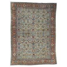 Antique Persian Sultanabad Oversize Even Wear Oriental Rug