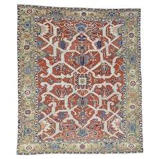 Antique Persian Serapi Heriz Exc Cond Handmade Oversize Rug