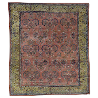 Antique Persian Mahal Good Condition Hand-Knotted Oriental Rug