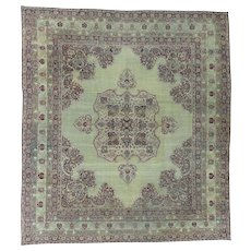Antique Lavar Kerman with Natural Cranberry Dyes Oriental Rug