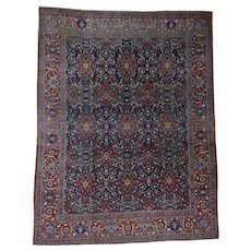 Antique Persian Kashan Full Pile Mint Condition Oriental Rug