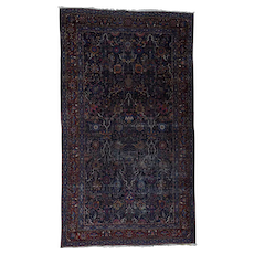 Oversize Antique Persian Tabriz Multicolored Some Wear Rug