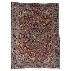 Antique Persian Heriz Handmade Mint Condition Oriental Rug Sh37427