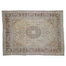 1910s Antique Persian Tabriz Pure Wool Oriental Rug- 9′2″ × 12′5″