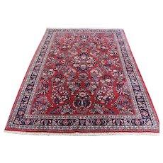 1930s Antique Persian Sarouk 300 Kpsi Pure Wool Oriental Rug- 4′4″ × 7′1″