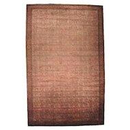 Circa 1880 Oversize Handmade Antique Agra 100% Wool Oriental Rug Sh20623