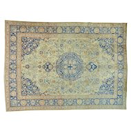 "9'4""x13' Hand Knotted Antique Persian Tabriz Exc Cond Oriental Rug"