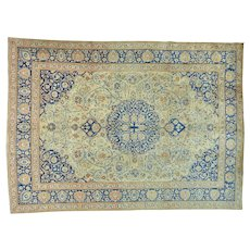 Hand Knotted Antique Persian Tabriz Exc Cond Oriental Rug Sh25863
