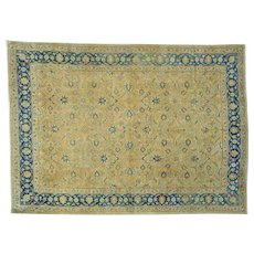 Hand Knotted Gold Antique Persian Tabriz Exc Cond Rug Sh25865