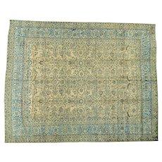 Antique Persian Mashad Gold Oversize Handmade Oriental Rug Sh26875