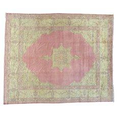 Antique Turkish Sivas Even Wear Pink Oversize Oriental Rug Sh26986
