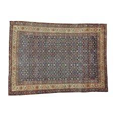 Antique Persian Mahal Even Wear Hand Knotted Oriental Rug Sh26987
