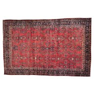 Antique Persian Maharajan Sarouk Full Pile and Soft Rug Sh27107