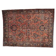 Antique Persian Maharajan Sarouk Full Pile and Soft Rug Sh27108