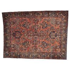 Antique Persian Maharajan Sarouk Full Pile and Soft Rug Sh27108