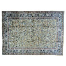 Antique Persian Mashad Gallery Size Hand Knotted Oriental Rug Sh27483