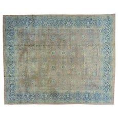 Antique Persian Tabriz Even Wear Gallery Size Handmade Rug Sh27484
