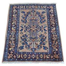 Full Pile Soft And Clean Antique Persian Sarouk Rug Sh28116