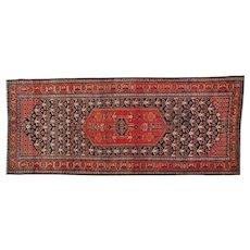 Antique Persian Bidjar Exc Cond Wide Runner Handmade Rug Sh30162